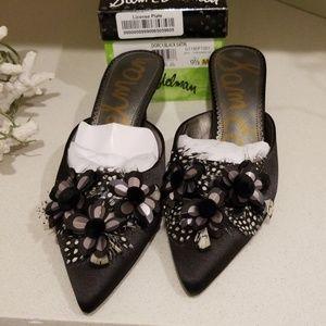 Sam Edelman Dorcy black satin shoes